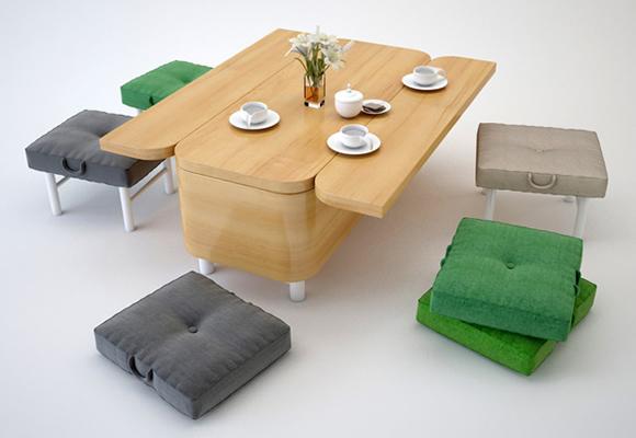 Сonvertible Sofa - Um sofá que vira mesa de jantar e que vira sofá novamente