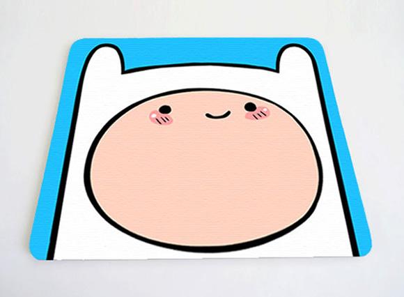 Mousepads personalizados são a cara dos personagens de Adventure Time!