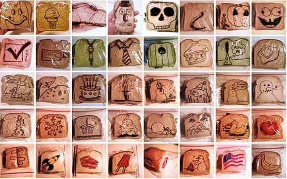 Ilustrador criativo transforma todos os dias os pacotes de lanche de seus filhos com desenhos divertidos