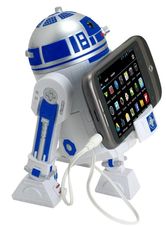 Speaker portátil do R2-D2 vem com suporte para o seu smartphone, celular ou MP3 Player