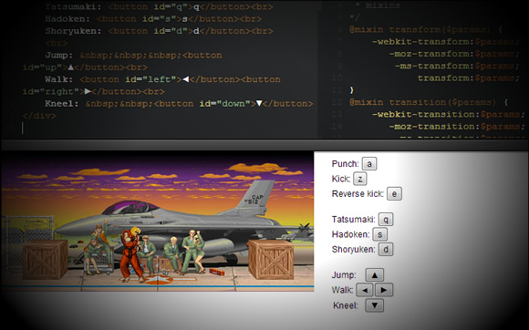 Street Fighter em CSS? Nova técnica de programação permite o controle através de CSS e Javascript