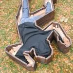 Caixão Cena do Crime - O caixão perfeito para vítimas de acidentes ou assassinatos!