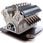 12 Canecos de café: Cafeteira italiana Espresso Veloce tem formato de um motor V12