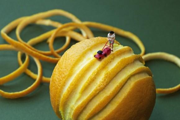 Big Appetites: Fotos incríveis de miniaturas de humanos interagindo com alimentos