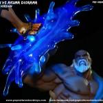 Estátua Gouken e Akuma de Street Fighter é perfeita e tem até LEDs que se acendem!
