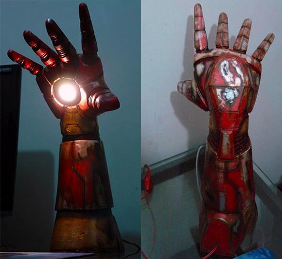 Iron Man Repulsor - Luminária incrível do Homem de Ferro expele um raio repulsor para iluminar a mesa de trabalho!