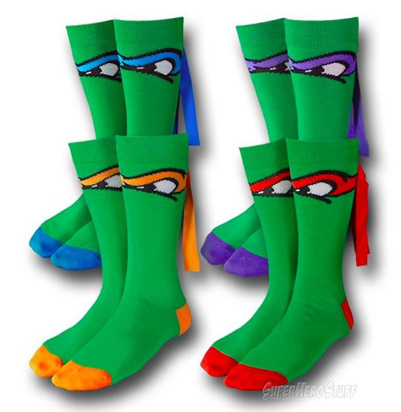Cowabunga! Meias transformam seus pés em Tartarugas Ninjas!