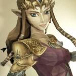 Papercraft da Princesa Zelda do game The Legend Of Zelda em tamanho real é perfeita