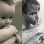 """Série de fotos engraçada apresenta um """"marmanjo"""" imitando fotos de bebês"""