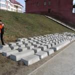 Escultura de teclado gigante de concreto é atração na Rússia