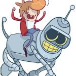 Adventurama - Mashup mistura Adventure Time com Futurama