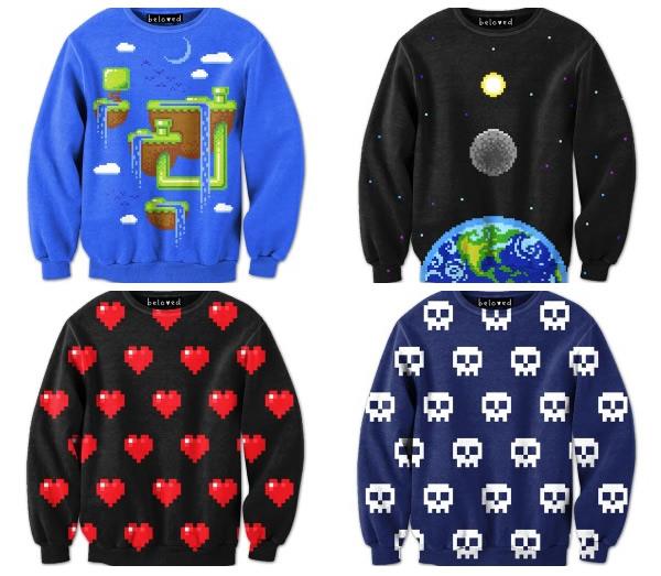 Nove modelos de blusas baseadas em Games que gostaríamos de ter!