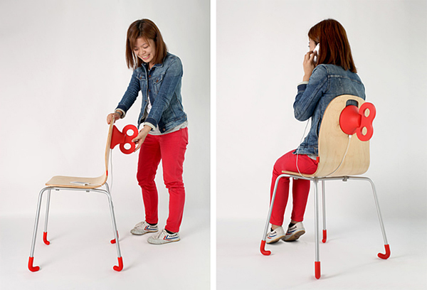 WindUp Chair - Dê corda na cadeira para ela recarregar o seu smartphone