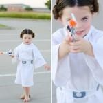 Cosplay fofo da mini Princesa Leia inspirado na personagem da série Star Wars