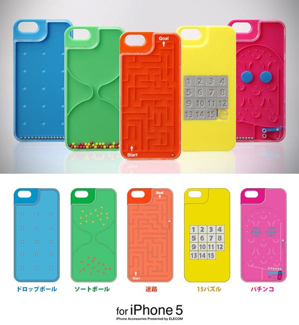 Capas Playgame para iPhone 5 da Elecom oferecem jogos analógicos divertidos pra matar o tempo