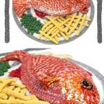 Artista cria esculturas de alimentos incríveis feitas de crochê