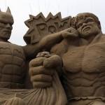 Esculturas de areia impressionantes do Gollum, Yoda, Jack Sparrow e outros personagens da cultura pop
