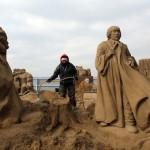 esculturas-de-gigantes-de-areia-harry-potter