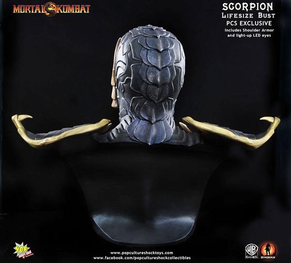 Busto do Scorpion de Mortal Kombat é feito em escala real e tem olhos que se acendem!