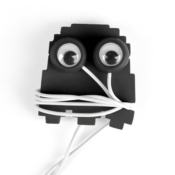 Isso é legal do dia: Fone de ouvido com enrolador de fios do fantasma do Pac-Man