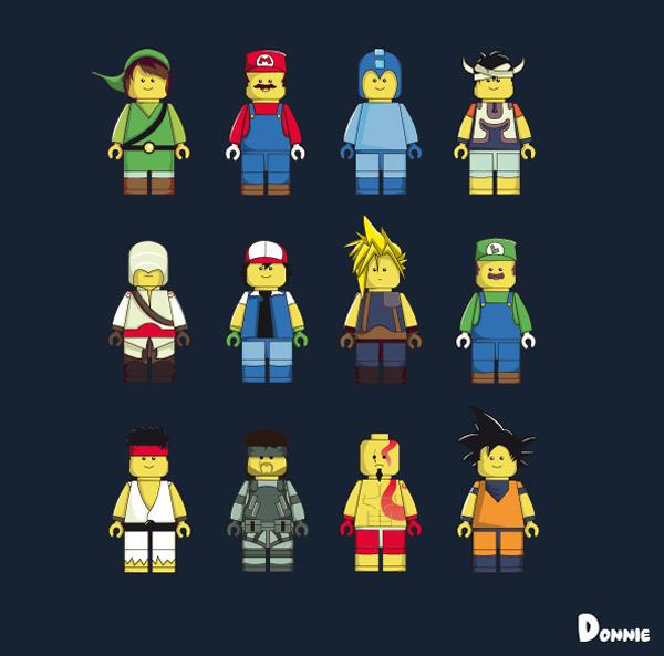 Ilustrações transformam bonecos de Lego em personagens de games, filmes e séries