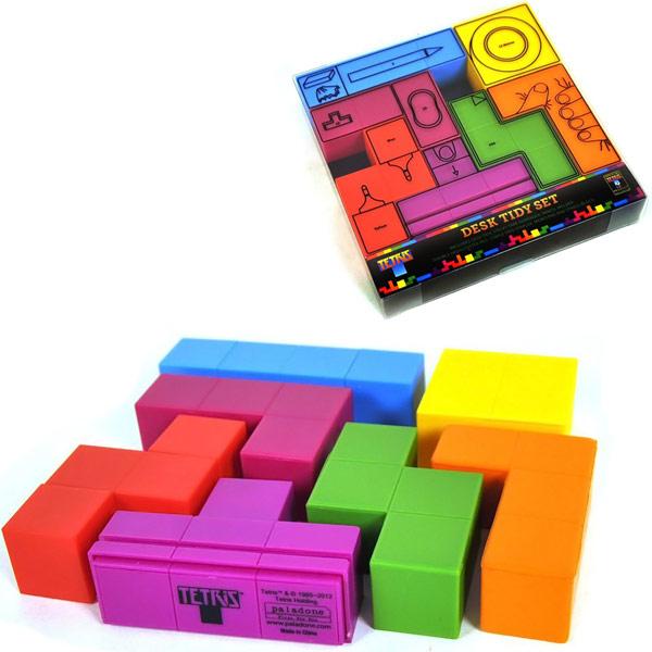 Conjunto de peças de Tetris ajuda a manter a mesa do PC organizada