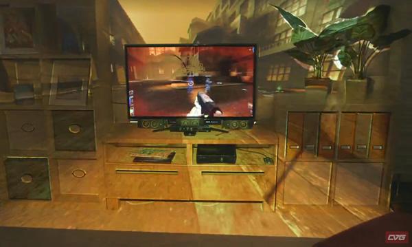 Novo Microsoft IllumiRoom transforma a sala do jogador em uma tela enorme de jogo! (vídeo)