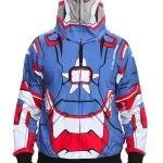 Blusas do Iron Man 3 vem com capuzes que imitam os capacetes das armaduras dos personagens