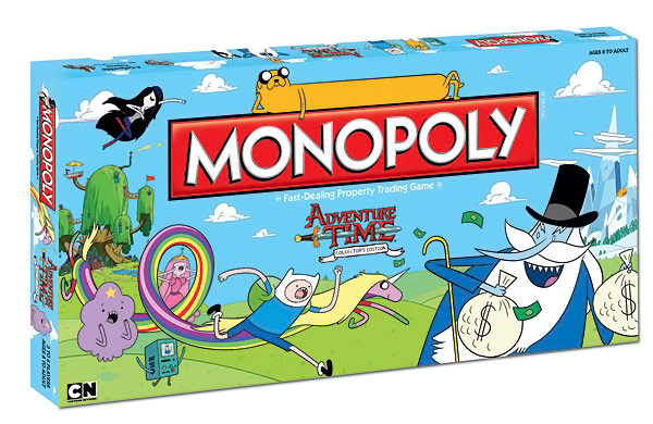 É hora de diversão com o Monopoly do Adventure Time!