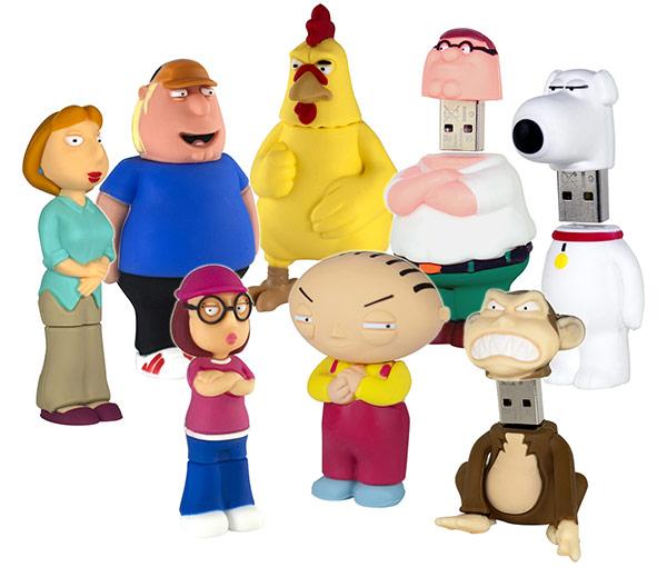 Com vocês: Os pen drives dos personagens de Family Guy!