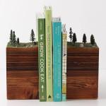 Bookends Of The Earth - Um porta-livros criativo que imita uma paisagem