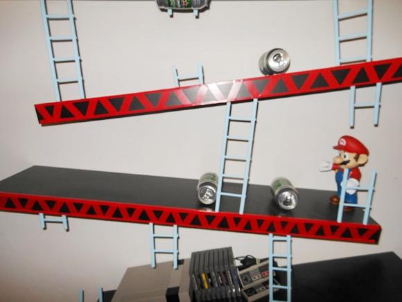 Direto dos games para a sua casa: Prateleira Donkey Kong!