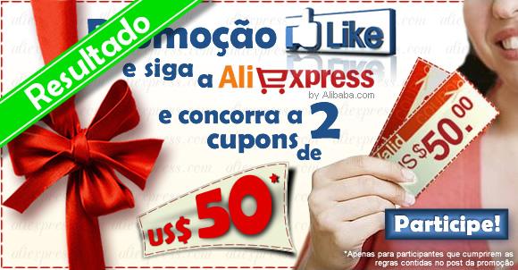RESULTADO: Promoção AliExpress e ROCK'N TECH – Sorteio de 2 cupons de US$ 50