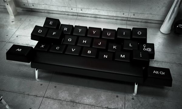 Isso é legal do dia: Um sofá-cama que imita um teclado de computador!