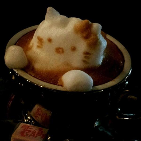 Isso é incrível do dia: Cafés 3D parecem estar saltando da caneca