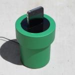 Acabou a bateria? Plugue seu iPhone em um Tubo Verde do game Super Mario!