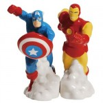 Cozinha Geek: Saleiro e pimenteiro em forma de estátuas do Iron Man e Capitão América