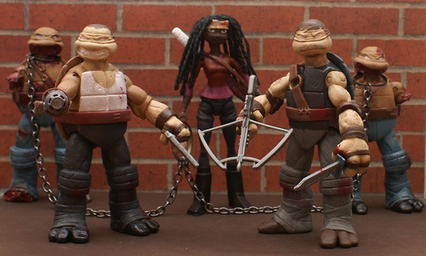 Walking Dead TMNT - Action figures das Tartarugas Ninjas transformados em personagens da série The Walking Dead