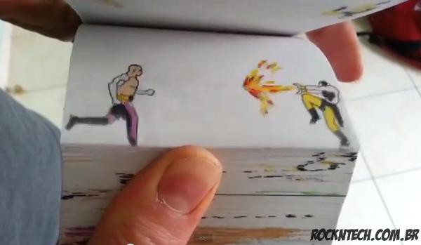 Isso é incrível do dia: Animação em flip book do game Mortal Kombat