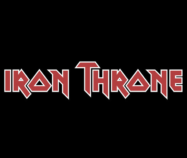 Camiseta Iron Throne para fãs do Iron Maiden e Game Of Thrones