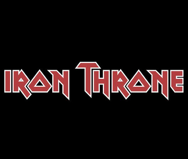 Camiseta Iron Throne para fãs do Iron Maiden e Game Of Thrones