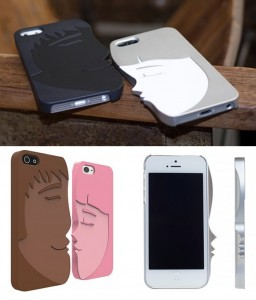 Capas de iPhone para casais imitam um casal se beijando