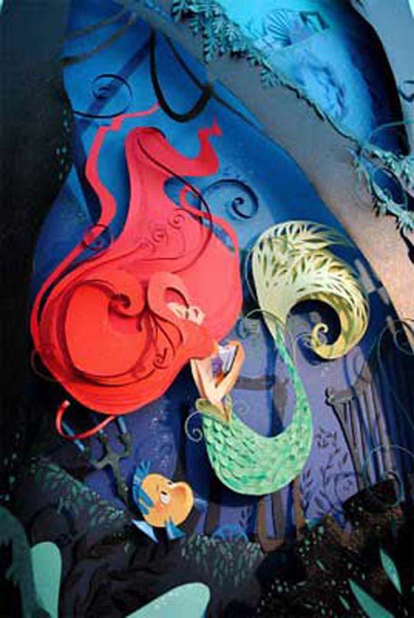 Isso é incrível do dia: Cenas de filmes da Disney e outros filmes populares feitas com papel