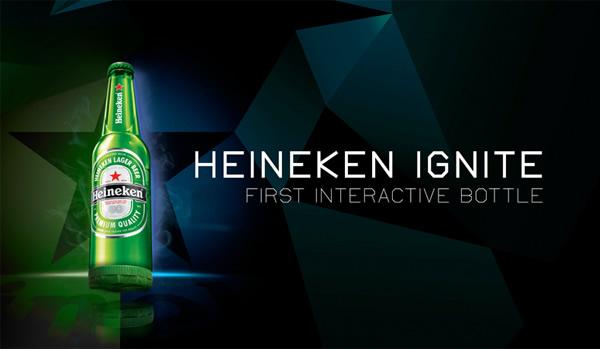 Nova garrafa interativa da Heineken tem LEDs que se acendem no ritmo da batida do DJ