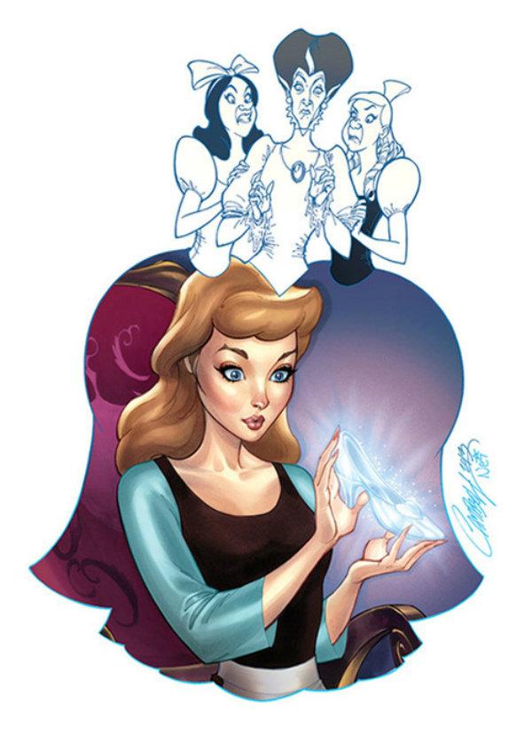 Bem vs. Mal - Ilustrações fantásticas unem heroínas da Disney com suas vilãs