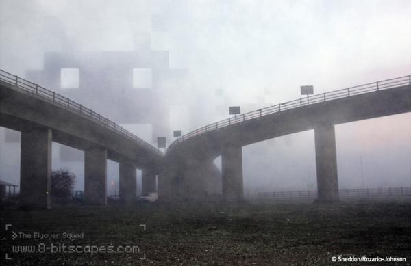 8-bitscapes - Montagens mostram personagens dos games invadindo o mundo real