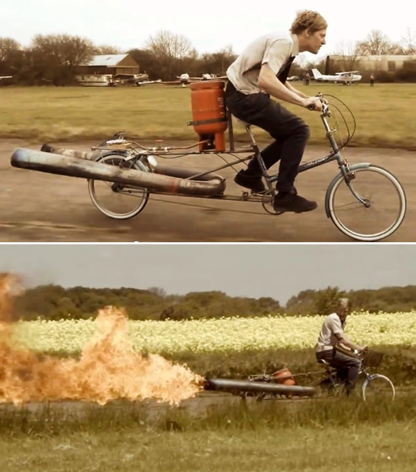 JET Bicycle - A bicicleta mais maluca e perigosa que existe! Assista ao vídeo