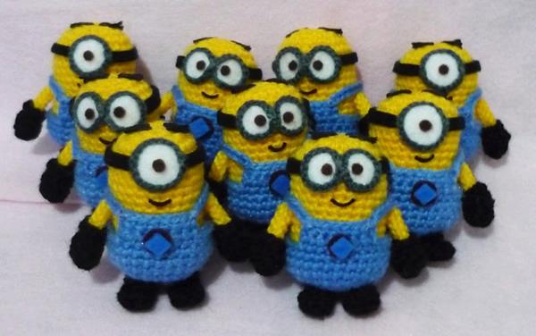 Isso é legal do dia: Minions do filme Meu Malvado Favorito feitos de crochê
