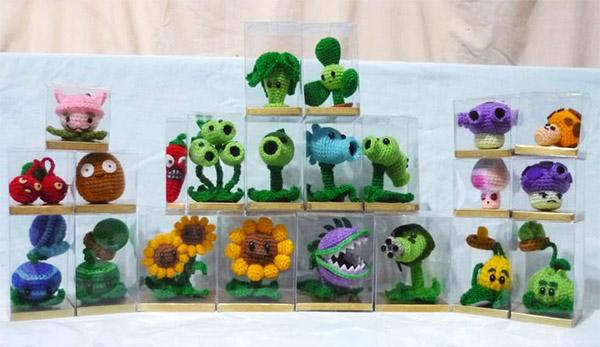 Растение против зомби из пластилина сделать