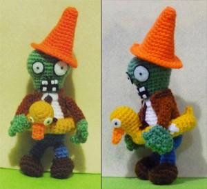 Isso é muito legal do dia: Personagens do jogo Plants vs. Zombies feitos de crochê